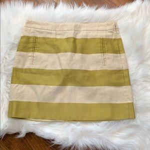 J. Crew Tulum Striped Linen Mini Skirt